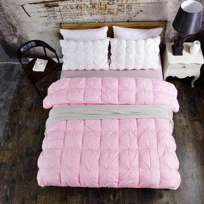 2017 新款单边米字格羽绒被(品质款) 160*210cm 小号 粉色