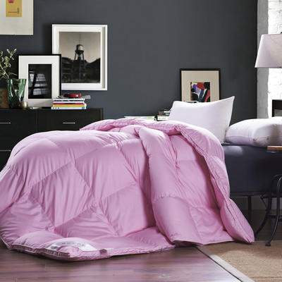 2017 新款立体羽绒被80S羽绒被-粉色款 200X230cm 90%国标白鹅绒(粉色款)
