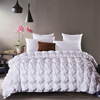 五星维尔盖茨式米字鹅绒被(90%白鹅绒-白色) 标准 白色