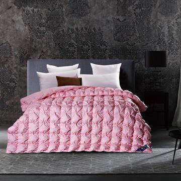 五星维尔盖茨式米字鹅绒被(90%白鹅绒-粉色)