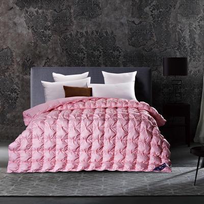 五星维尔盖茨式米字鹅绒被(90%白鹅绒-粉色) 标准 粉色