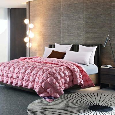 五星维尔盖茨式米字鹅绒被(95%白鹅绒-粉色) 标准 粉色