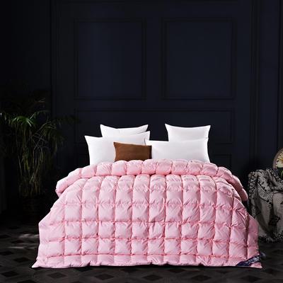 五星维尔盖茨式面包鹅绒被(90%白鹅绒-粉色) 标准 粉色