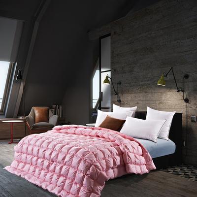 五星维尔盖茨式面包鹅绒被(95%白鹅绒-粉色) 标准 粉色