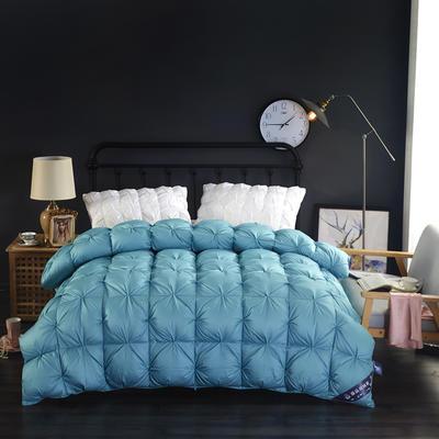 富旺-单边米字格羽绒被(90%白鸭绒) 200X230cm 蓝色