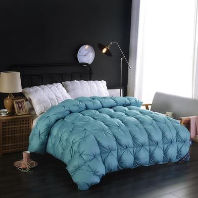富旺-单边米字格羽绒被(95%白鹅绒出口欧标) 200X230cm 单边米字格-蓝色
