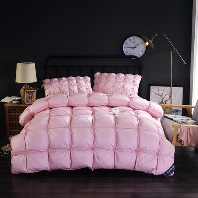 富旺-法式臻品面包羽绒被(50%白鸭绒手感绒) 200X230cm 粉色