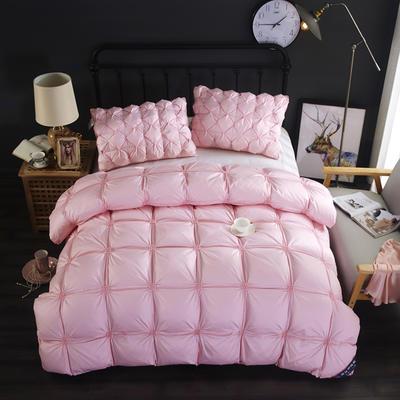 富旺-法式臻品面包羽绒被(90%白鸭绒) 200X230cm 粉色