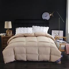 富旺-韩式花边水洗棉羽绒被(90%白鸭绒) 200X230cm 咖色