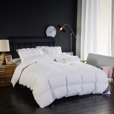 富旺-韩式花边水洗棉羽绒被( 90%白鹅绒) 200X230cm 白色