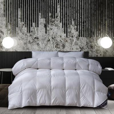 2019新款臻品立体羽绒被 200X230cm2.6斤90%白鸭绒 白色