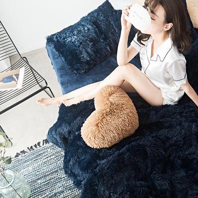 2019新款云貂绒四件套 1.5m(5英尺)床 宝蓝