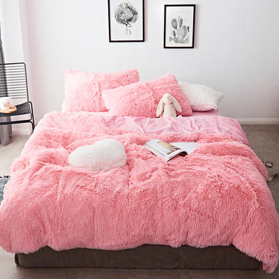 2019新款云貂绒四件套 1.5m(5英尺)床 粉色