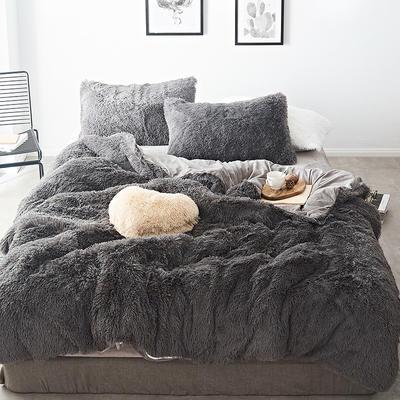 2019新款云貂绒四件套 1.5m(5英尺)床 灰色
