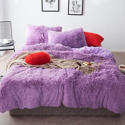 2019新款云貂绒四件套 1.5m(5英尺)床 紫色
