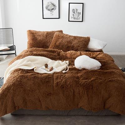 2019新款云貂绒四件套 1.5m(5英尺)床 棕色