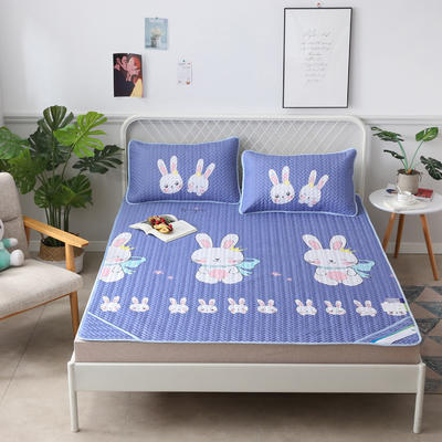 2019新款天丝软席三件套 1.8*2.0(三件套) 可爱兔  兰