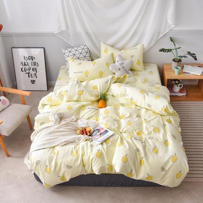 2019新款四件套 2.0m(6.6英尺)床 柠檬派