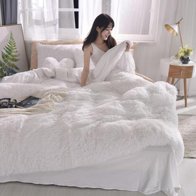 2019新款云貂绒四件套 1.8m(6英尺)床 白色