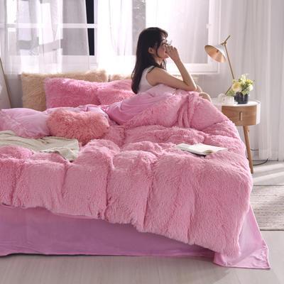 2019新款云貂绒四件套 1.8m(6英尺)床 粉色