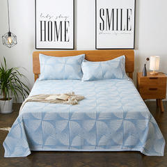 朵绒家纺 亚麻凉席三件套 律动蓝 1.5m(5英尺)床 律动蓝