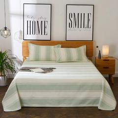 朵绒家纺 亚麻凉席三件套 条纹绿 1.8m(6英尺)床 条纹绿