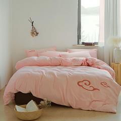 朵绒家纺 牛奶绒祥瑞四件套 水晶绒 法莱绒 2.0m(6.6英尺)床 水粉