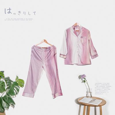 2018款柔丝缎睡衣 套装款 上衣+裤子 PJ晖C