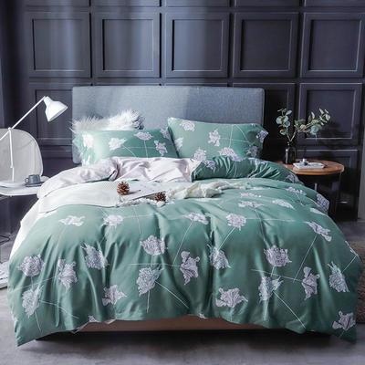长绒棉系列四件套 标准(1.5m-1.8m床) 兰蒂斯-绿(只剩标准号)