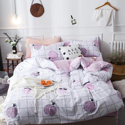 全棉泡泡纱系列四件套 1.35m床及以下三件套 果语