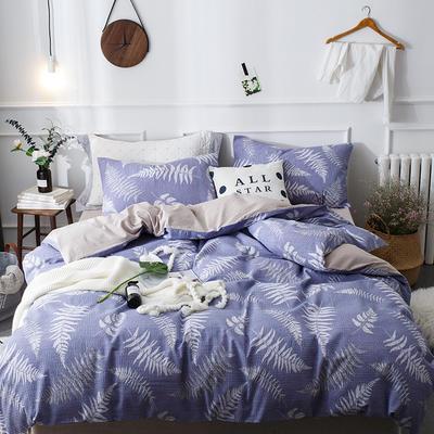 全棉泡泡纱系列四件套 1.35m床及以下三件套 肖恩