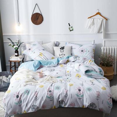 全棉泡泡纱系列四件套 1.35m床及以下三件套 小时光