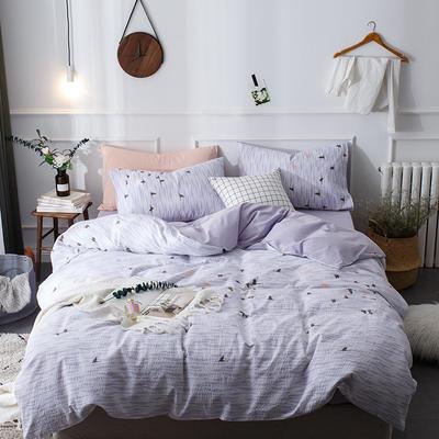全棉泡泡纱系列四件套 1.35m床及以下三件套 伊丹