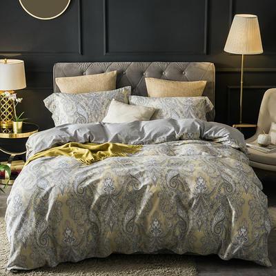 2018款60支全棉贡缎磨毛四件套(醇净暖绒) 标准1.5m-1.8m 苏拉尔 黄 只剩标准