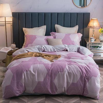 2018款天丝磨毛四件套(立暖绒) 标准1.5m-1.8m 克罗时光 紫