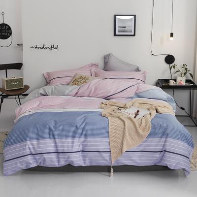 2019款40支匹马棉 青春条格系列 1.5m(5英尺)床 宁静