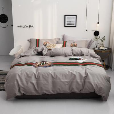 2019款40支匹马棉 网红大版系列 2.0m(6.6英尺)床 首尔 灰 只剩标准