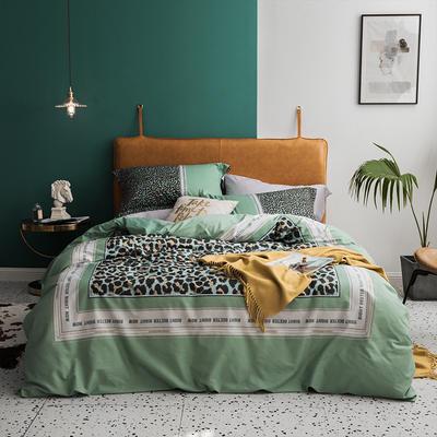2019款40支匹马棉 网红大版系列 1.5m(5英尺)床 贝拉美 绿