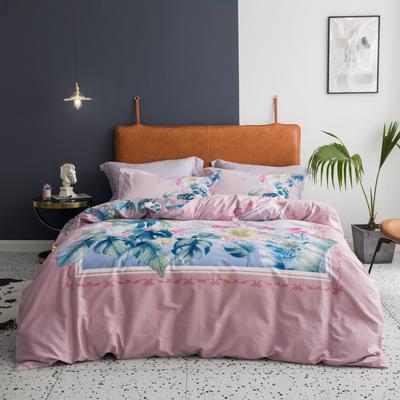2019款40支匹马棉 网红大版系列 2.0m(6.6英尺)床 晴窗花事 粉