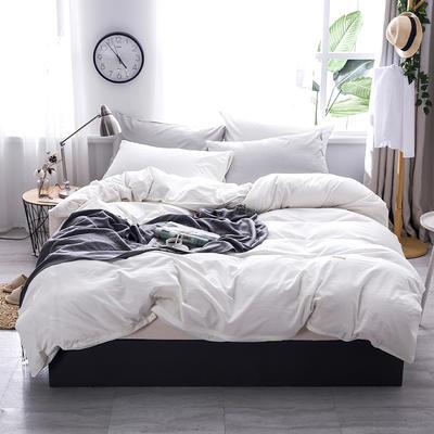 2019款全棉色织水洗棉四件套 1.8m(6英尺)床 漂白