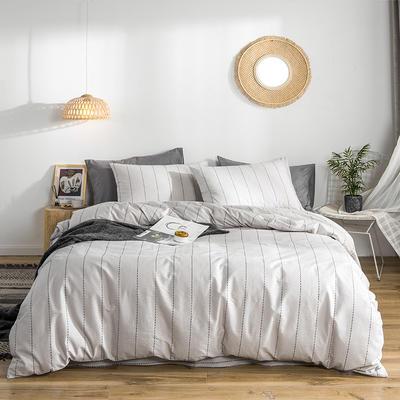 2019款40支匹马棉 减法系列 1.5m(5英尺)床 诺曼底 灰条