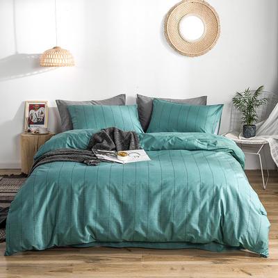 2019款40支匹马棉 减法系列 1.5m(5英尺)床 诺曼底 绿条