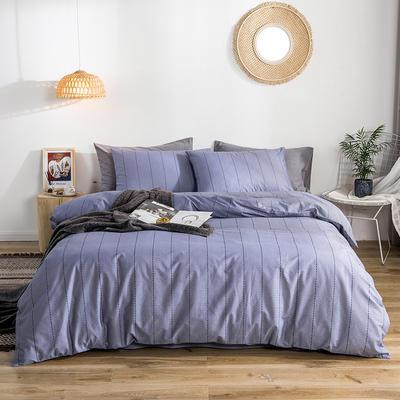 2019款40支匹马棉 减法系列 1.5m(5英尺)床 诺曼底 紫条