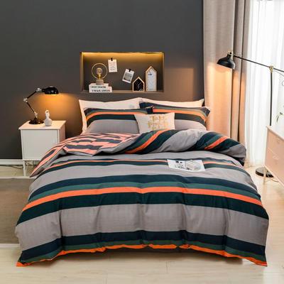 2019款全棉生态磨毛-北欧格调系列 1.8m(6英尺)床 轩然
