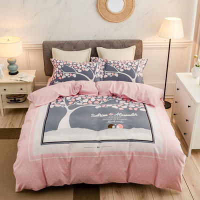 2019款全棉生态磨毛-花容霓裳系列 1.5m(5英尺)床 一见倾心 只剩加大