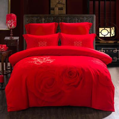 2020新款全棉生态磨毛-婚庆系列 1.8m(6英尺)床 良辰美景
