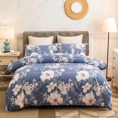 2019款全棉生态磨毛-花容霓裳系列 1.8m(6英尺)床 海棠 只剩标准