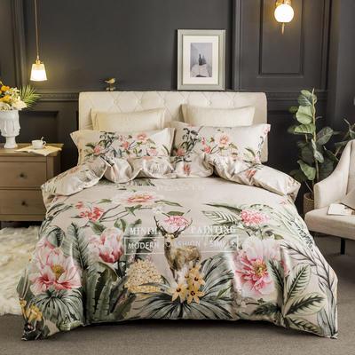 2019款全棉生态磨毛-花容霓裳系列 1.5m(5英尺)床 秘境 只剩标准