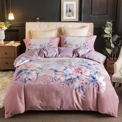 2019款全棉生态磨毛-花容霓裳系列 1.5m(5英尺)床 爱丽丝-粉 只剩标准