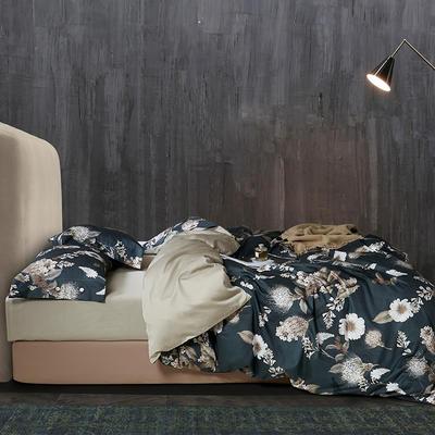 2020新款60S数码印花长绒棉 1.8m(6英尺)床 奥若拉 绿